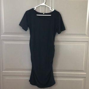 Black Cotton Maternity Dress